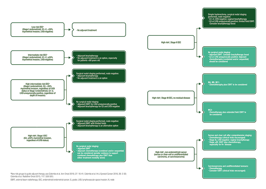 endometrial cancer brachytherapy guidelines intrarea portalului parazit