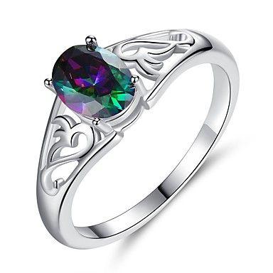 Inel din platina cu diamant - solitar