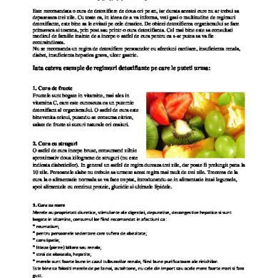 Cele mai bune 8 alimente pentru detoxifierea organismului - topvacanta.ro
