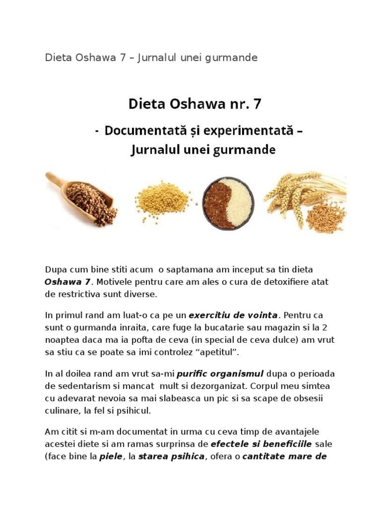 Regim de detoxifiere oshawa Dieta Oshawa slabeste 7kg in 10 zile