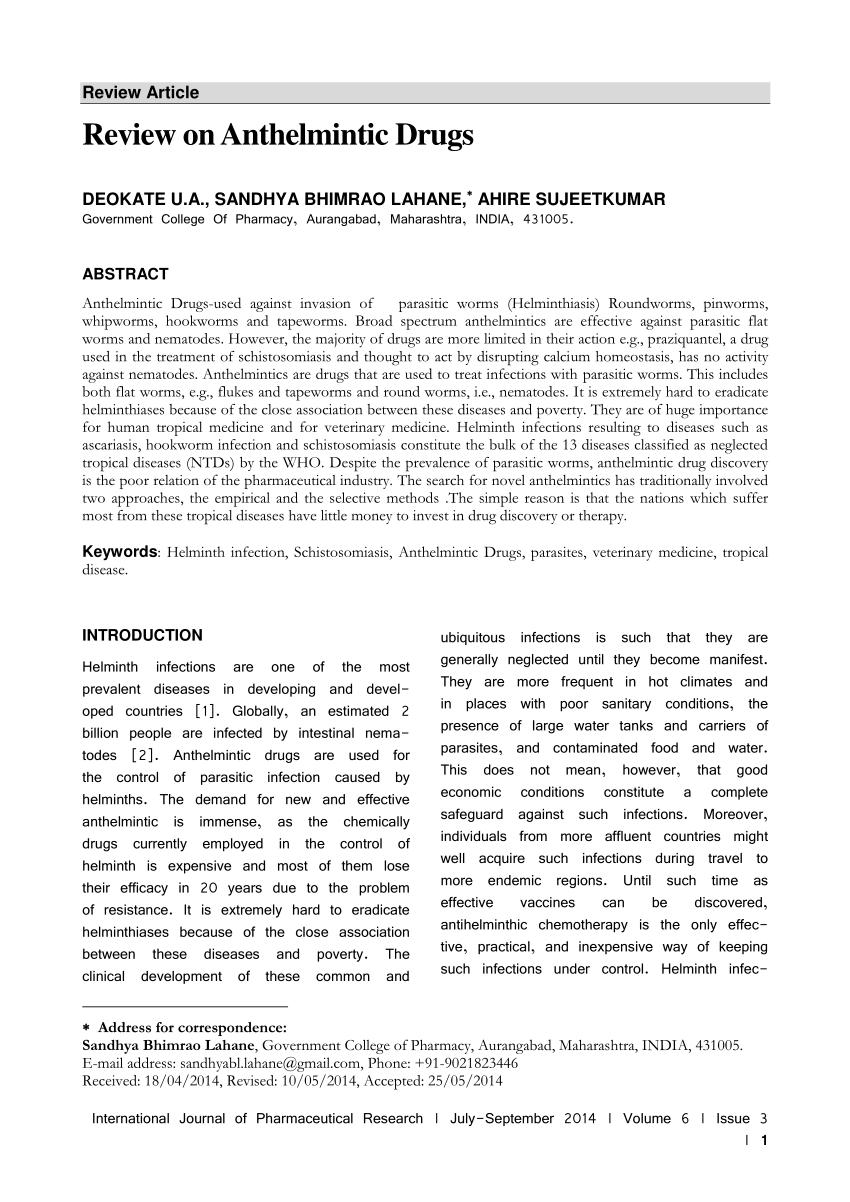 vietnam antihelmintic frecvența verucilor genitale