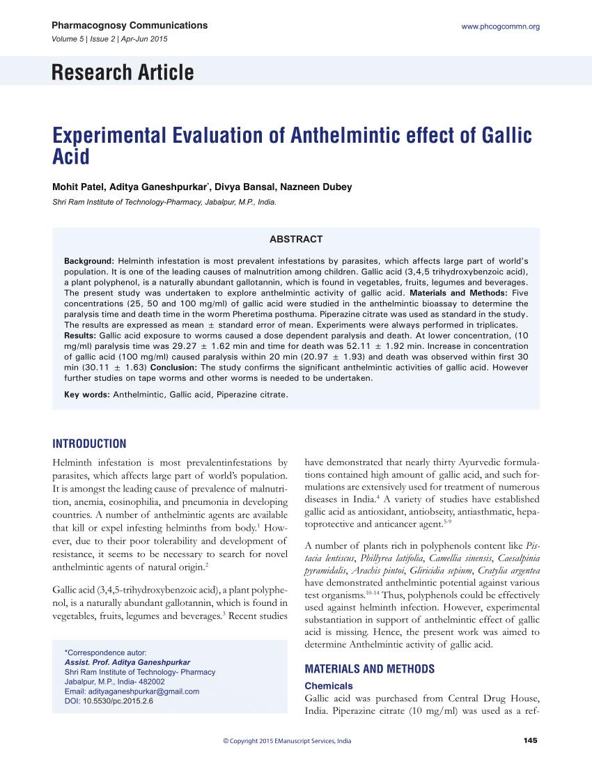 gel antihelmintic