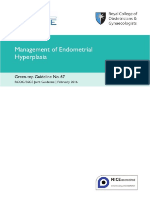 endometrial cancer guidelines rcog