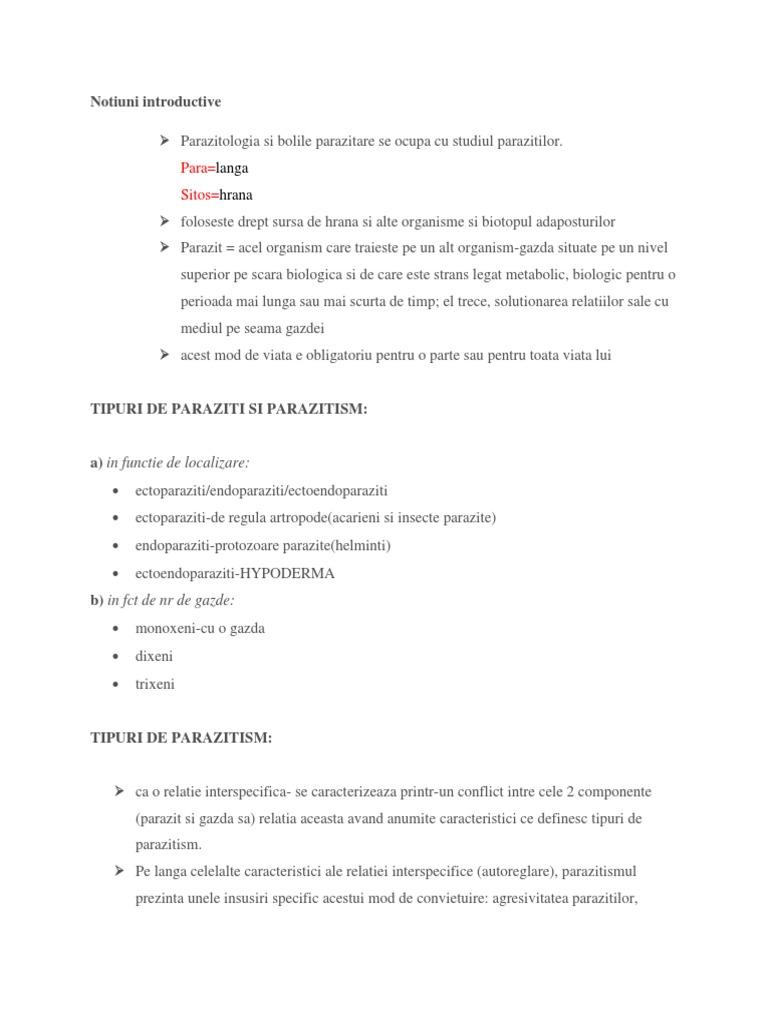 Exemple de endoparaziți Ce este Endoparaziți?