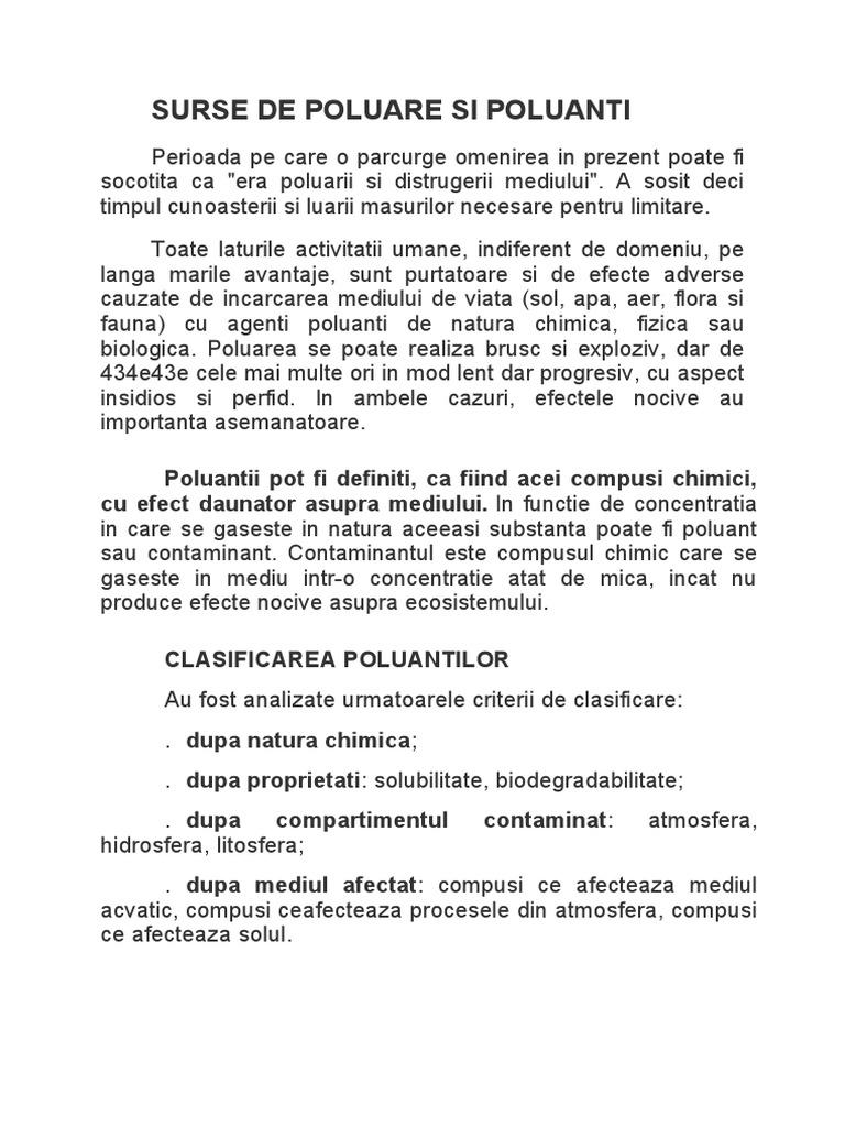 Surse de poluanți pentru helminți. Surse de poluare a aerului în Europa