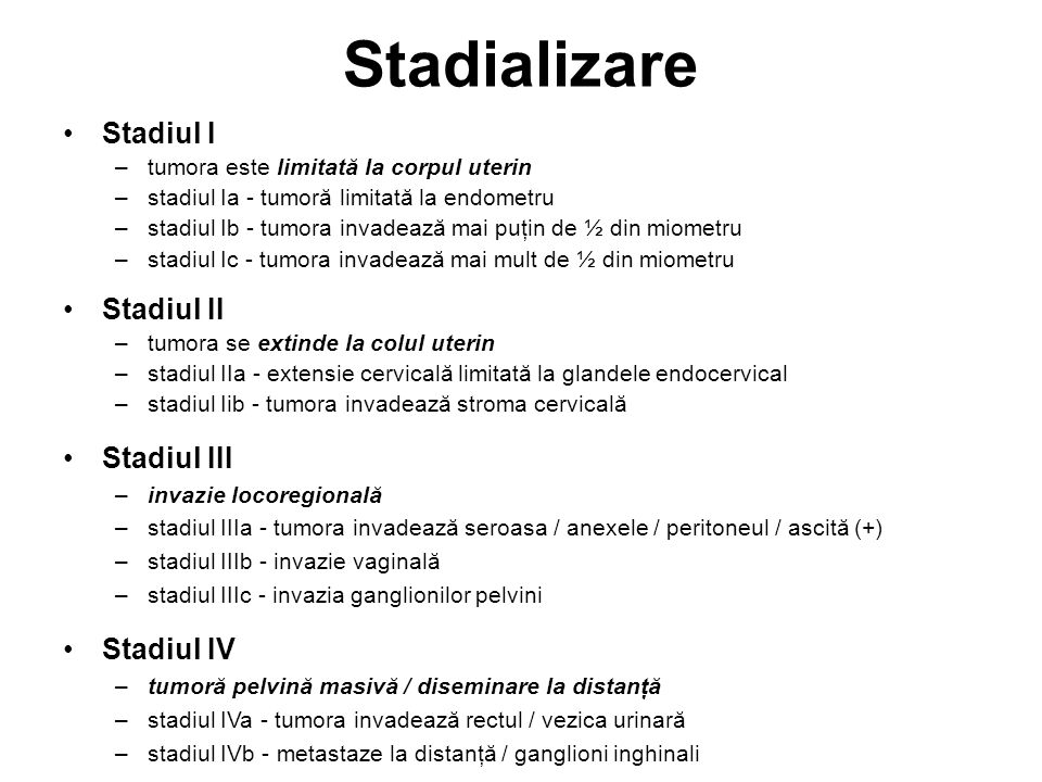 cancer endometru stadializare