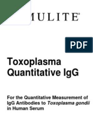 Toxoplasma gondii anticorpi igg