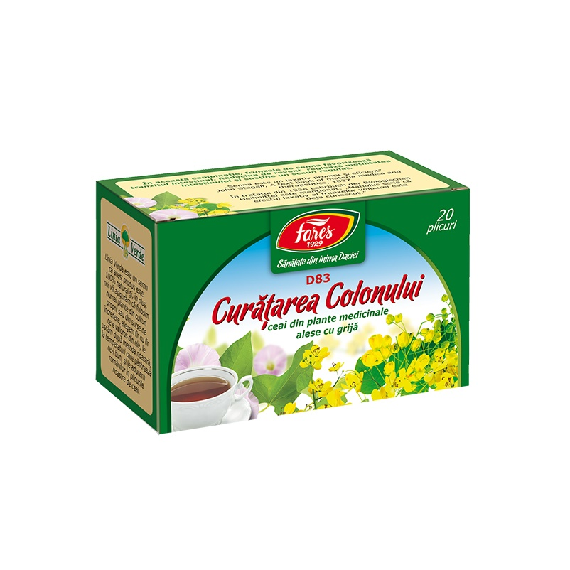 ceai curatare colon fares