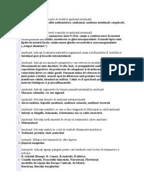 etiologia enterobiozei