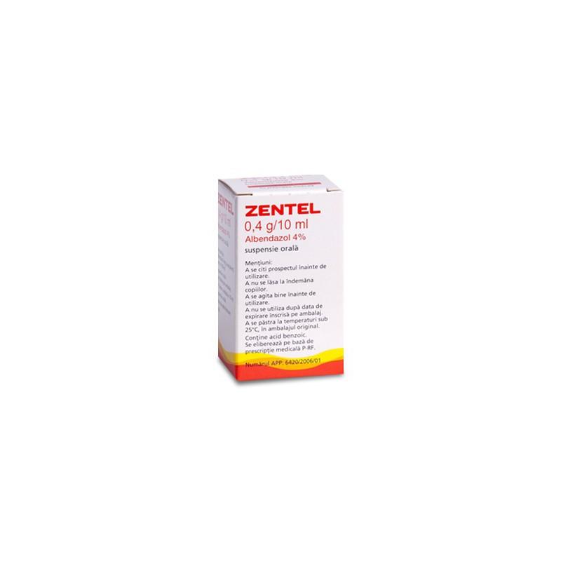 Zentel mg/5ml suspensie orala - Prospect Medicament - Indicatii, Administrare, Reactii adverse