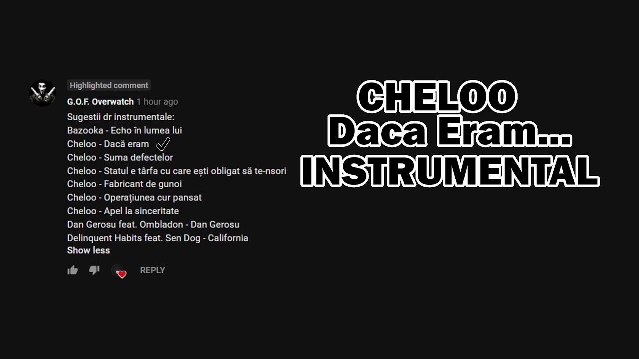 Letra de Daca Eram ... de Cheloo