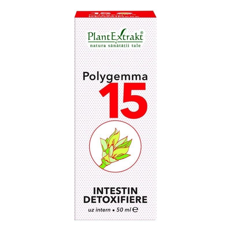 Polygemma 15, Intestin detoxifiere, 50 ml, Plant Extrakt : Farmacia Tei